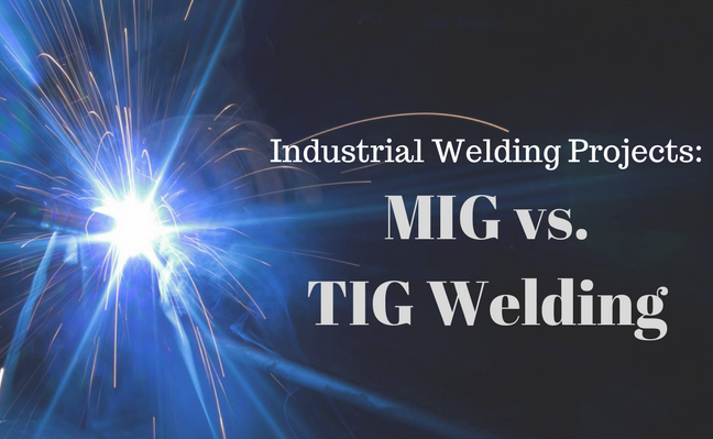 Industrial welding projects. MIG vs TIG Welding.