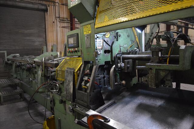 Metal forming machinery in a manufacturing plant