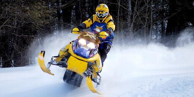 powder coated snowmobile