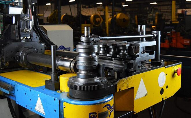CNC tube bending assembly