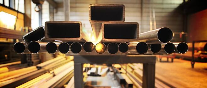 Steel tubes of different shapes and sizes