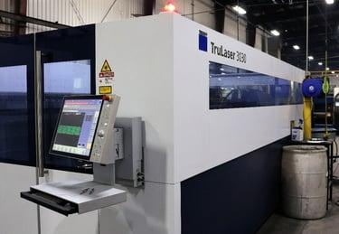 sheet metal laser cutting services - trulaser machine